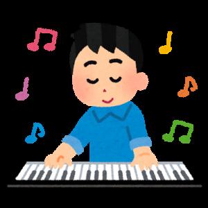 楽器を演奏する男性